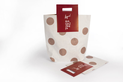 Borsa in carta, Luxury, craft avana, paper bag