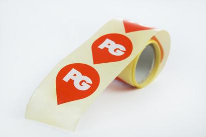 private griffe, etichette adesive